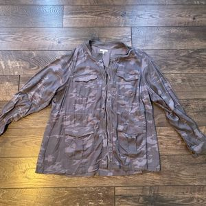 Maurices plus size gray camo lace up jacket